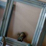 The old, ugly picture frame, transformed!
