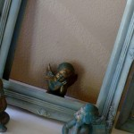 Chalk painted frame in Versailles and Duck Egg Blue