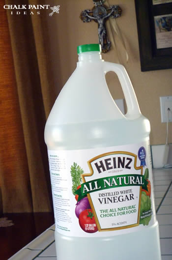 cleaning with white vinegar.