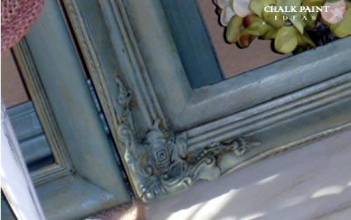 Dark wax in ornate detailing.