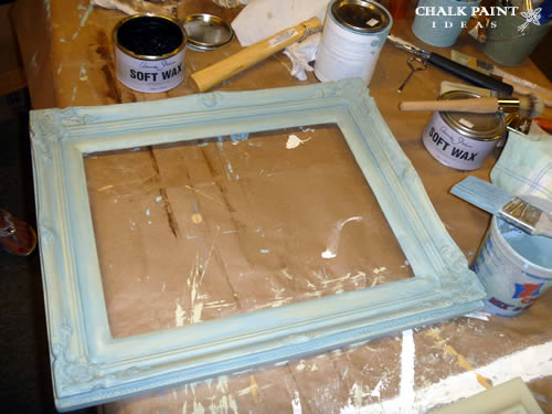 The frame after the paint, but before waxing.