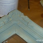 Corner detail of picture frame before detailing.