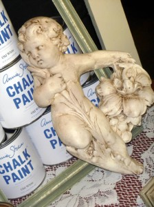 Painted Cherub After Dark Wax