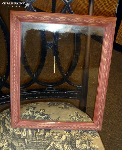Red frame before dark wax.