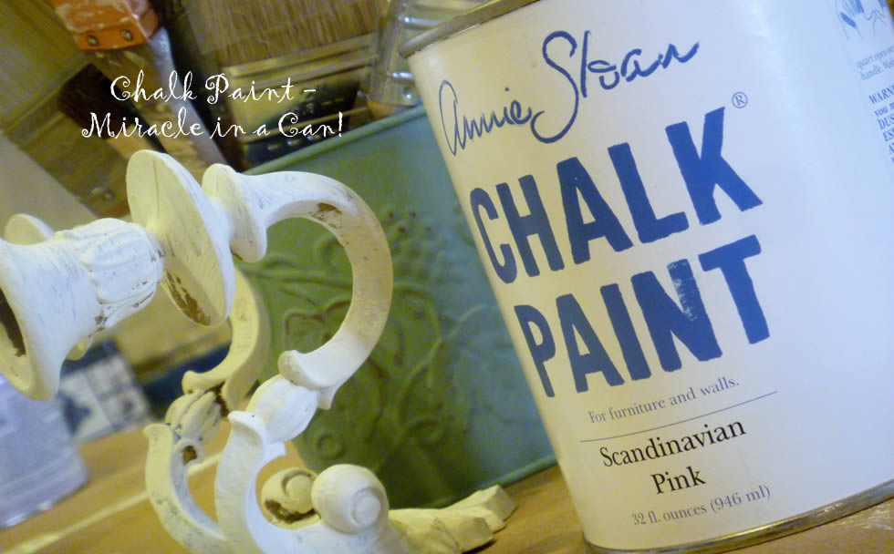 Can of Annie Sloan Chalk Paint. Pink Chalk Paint.