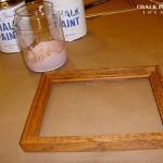 Frame before applying chalk paint.