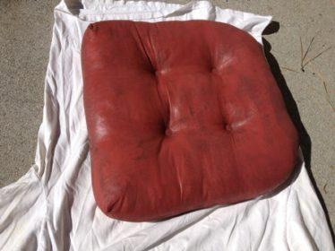 chalk-painted cushion